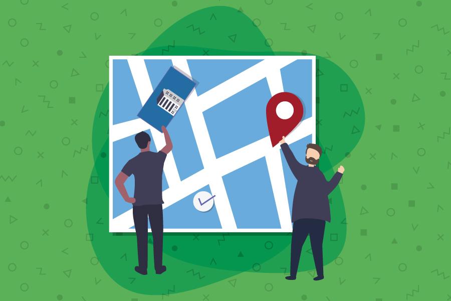Basics of Google Maps Marketing Graphic